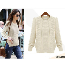 Free size latest fashion design coat solid loose style artificial cashmere England retro thick sweater ladies
