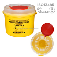 Round Disposable Sharps Containers With Perimeter Lock