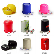 Manufacture custom electronic plastic leather dice cup shaker