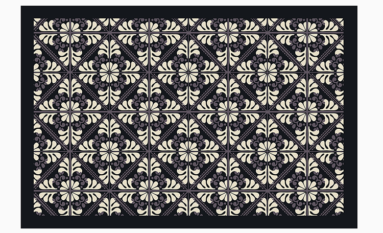 custom design printed luxury large pvc vinyl floor rugs for living room carpet