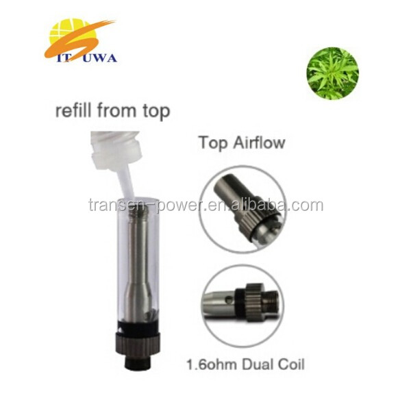 2015 Best selling e cig vape pen cbd cartridge 510 vaporizer clear tank atomizer