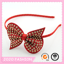 Hot Sale Korea Style Bun Decorated Big Ribbon Bow Girls Hair Band