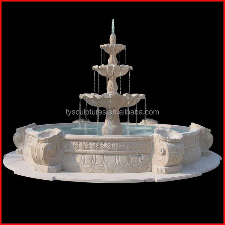 3-TierTravertine-Stone-Fountain-Water-Garden-Fountain