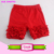Baby Icing Ruffle Pants Children's Wholesale Solid Color Toddler Girls Cotton Shorts Ruffled Icing Shorties