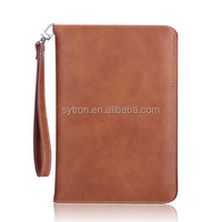 Popular Leather Book Pouch Cover Elegant Protective Cases Tablet Pc with Safety Lanyard for Ipad Air