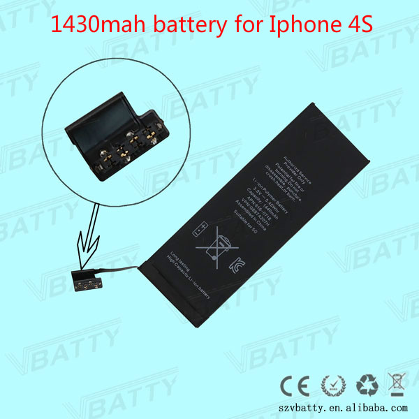 Mobile Phone Battery For Iphone 4 4S 5 5S 5C 6 Retail Box and tool Kits