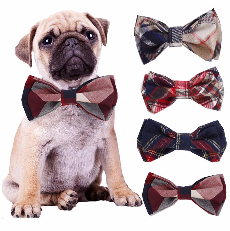 RoblionPet 100% Cotton Adjustable Pet Clothes Accessories Bow Ties For Dog Wholesale China