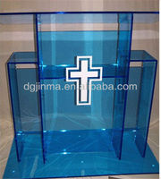JDZ-AL1002 Hot sale customized Logo design church podium;pulpit podium;acrylic podium