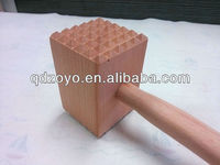 natural beech wooden meat tenderiser for kitchen utensils