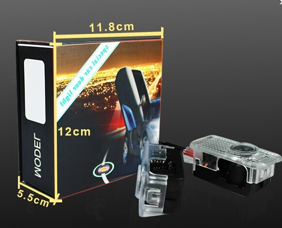 Top seller plug and play wireless led car door logo laser projector light for toyota