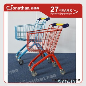 Mini upermarket equipment used small children trolley