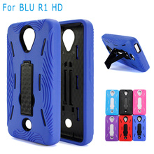 Wholsale Robot Rugged Impact Hybrid Hard Cover Kickstand Phone Case For Blu R1 HD Case