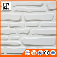 New building material 3D carved leather fire resistant decorative wall panels