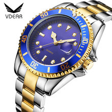 Expensive brand luxury golden bezel cool mens bulk watches 3atm water resist stainless steel watch