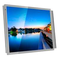 """15"""" LCD Open Frame bus display advertising monitor with VGA Auido Video HDMI input"""