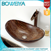 2015 New Interior Black Frosted Glass Sink Bowl face wash basin price in india