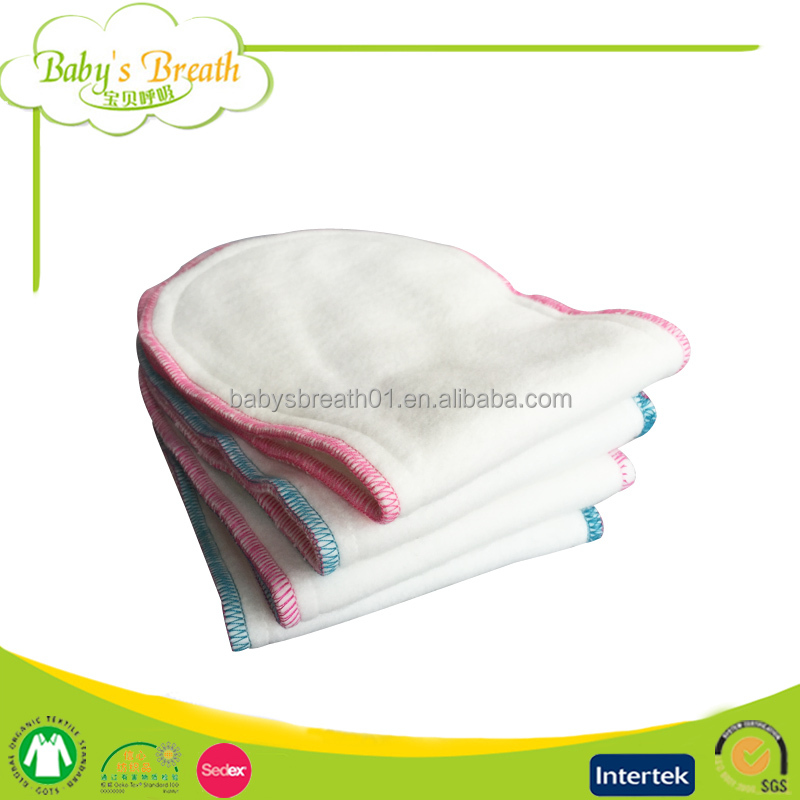 PSF-08 leak guard soft breathable hemp baby cloth diaper insert