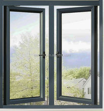 Tempered glass window French Style Aluminum Casement Window Guangzhou