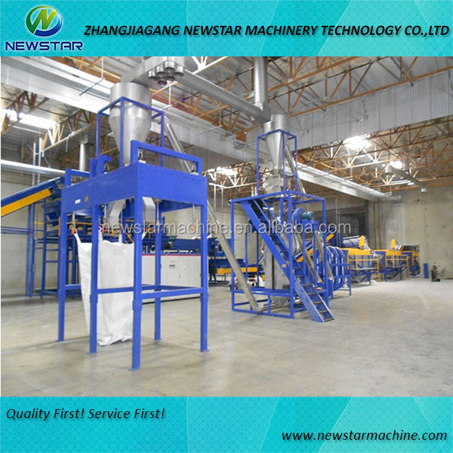 Waste PE PP film plastic recycling production line
