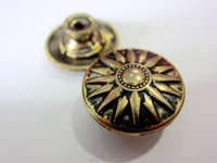 brush brass color jeans button