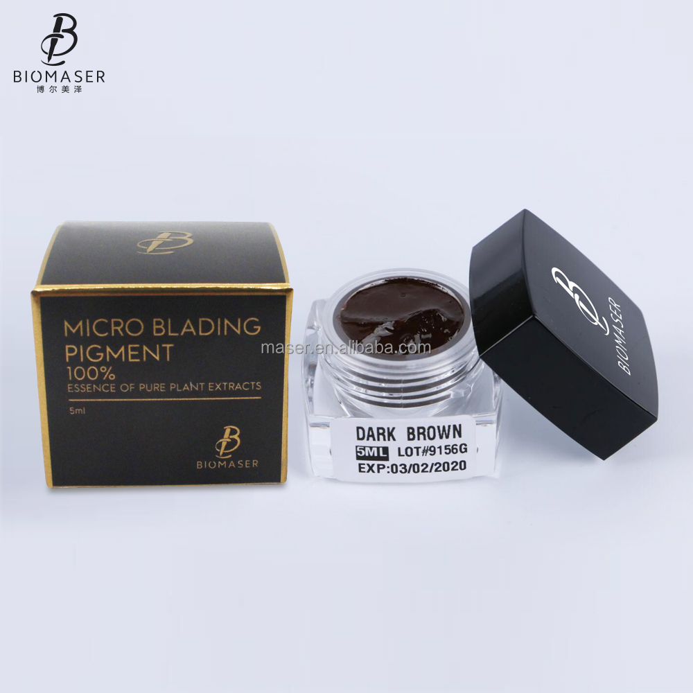 hotsale good quality eyebrow tattoo pigment 3D microblading pigment color BIOMASER permanent make up pigment
