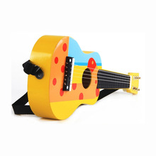 Musical instrument wooden mini guitar toy