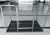 Folding 42'' 2 Doors Wire Pet Dog Cat Cage Crate Suitcase Kennel Playpen w/ Tray