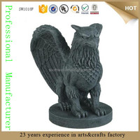 Gryphon Figurine Lion and Eagle King of Creatures Divine Griffin cement- like large Gargoyle garden Statue