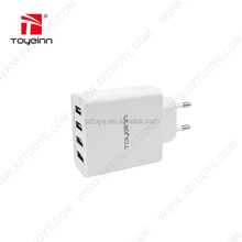 SAA TUV KC Approved Mobile Power Phone USB Charger Fast Charging Station 5V 4.2A 21W 4 Port Multi USB Charger R&D by Toye