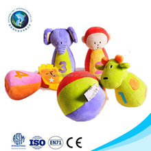 Various cheap animal bowling set ball toy for kids customized cute soft plush bowling ball