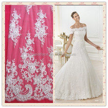 2015 new Guipure allover lace fabric swiss lace fancy charming new design flower lace embroidery fabric for bridal dress