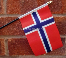 Promotional Norway hand waving flags cheap window banner