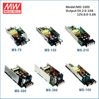 Mean well isolated dual output power 12V 5V MD-100S 100W 12V 5V power supply