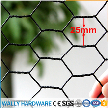 united states high quality black vinyle pvc plastic coated jackson wire galvanized hexagaonal chicken poultry wire netting