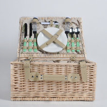 Wholesale custom made cheap wicker picnic baskets with handles