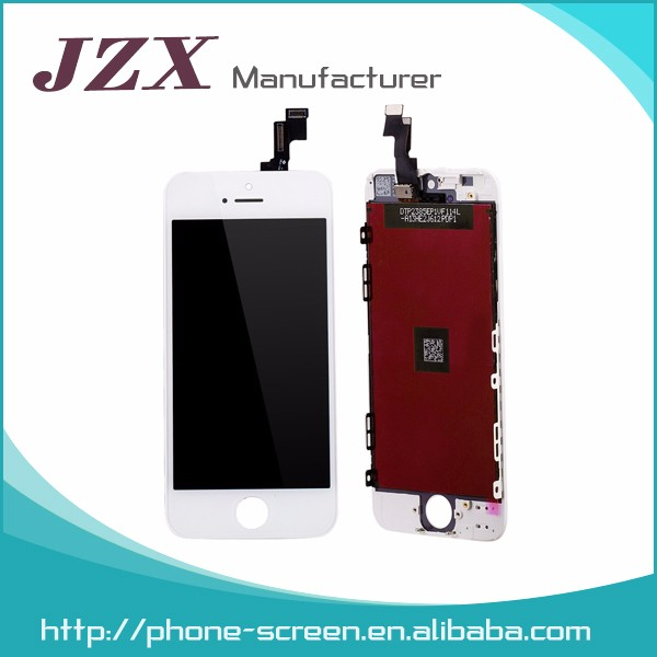 JZX manufacturer Chinese Complete LCD For Apple iPhone 5G LCD Display Touch Screen Digitizer Full Assembly Replacement