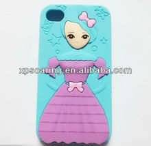 for iphone 4g 4s Dolls silicon case back cover