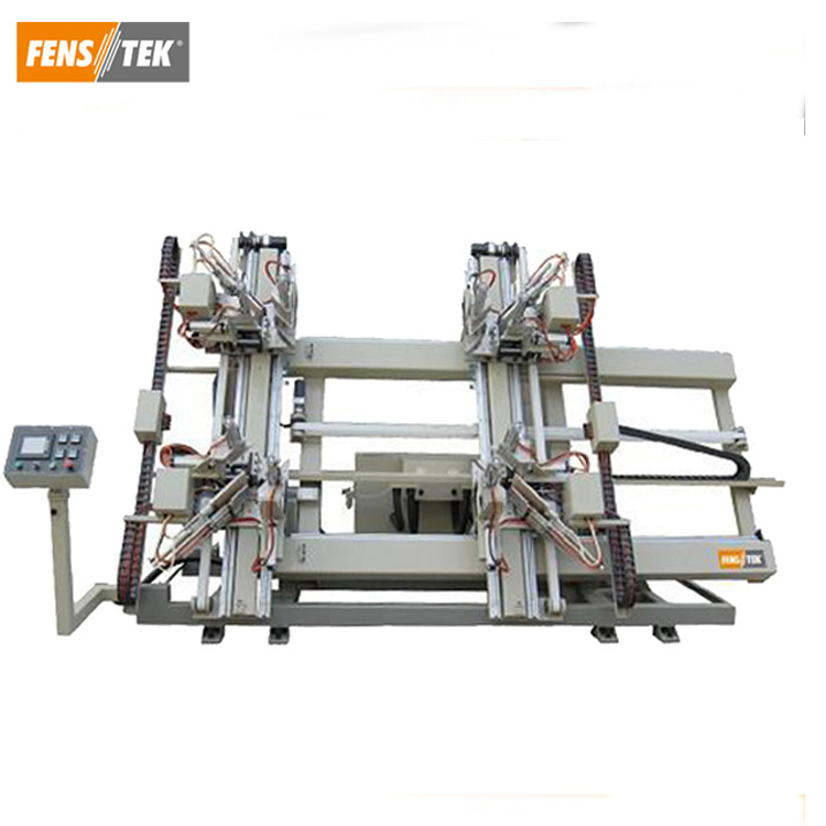 CNC vertical 4 point welding pvc window machine