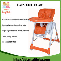 EN14988 Factory Baby High Chairs Plastic Foldable and Adjustable Baby Furniture