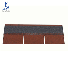 Easy installing roof building materials top quality fiberglass base asphalt roofing tiles 3 tab standard shingle from China