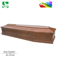 European style best solid oak wooden imported coffin