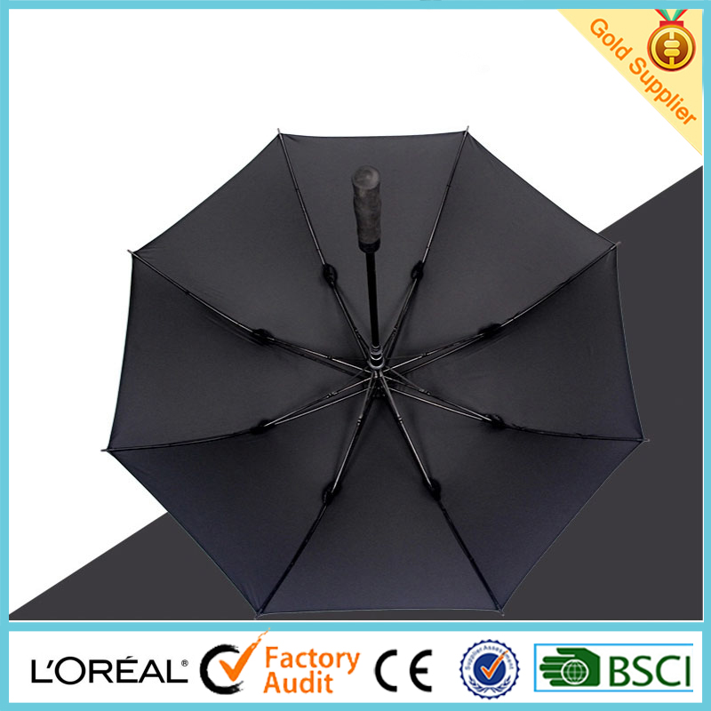 High quality promotion golf umbrella Advertising umbrella Straight umbrella (Social Audit and BSCI factory)