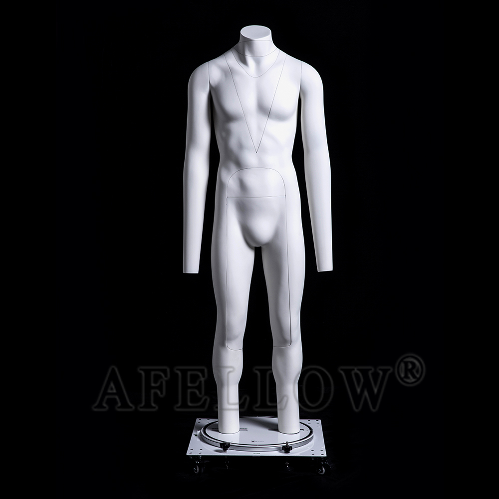 GH23 Man Invisibility Model Store Window Display Fiberglass Ghost Mannequin Removable for Display Clothing Photograph
