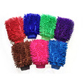 Microfiber chenille absorbent double sides dog pet bathing grooming gloves
