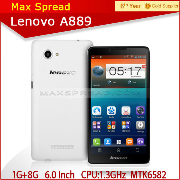 "Android 4.2 Mobile 6.0"" 1GB RAM 8GB ROM 8MP original Lenovo A889 generic cell phones"