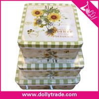 Vintage Metal Square Cake Custom Tin Box
