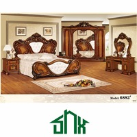 best sale 1.8m wooden box bed 6882# double box bed wooden box bed design