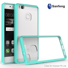 Ultra Soft TPU Bumper Acrylic Cell Phone Case Cover for Huawei P9 Lite Case