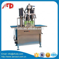 Manual dispenser aerosol filling machine