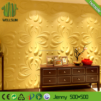 Art Modern bamboo Fiber 3D Wall Panel for Store Partitions Decoration